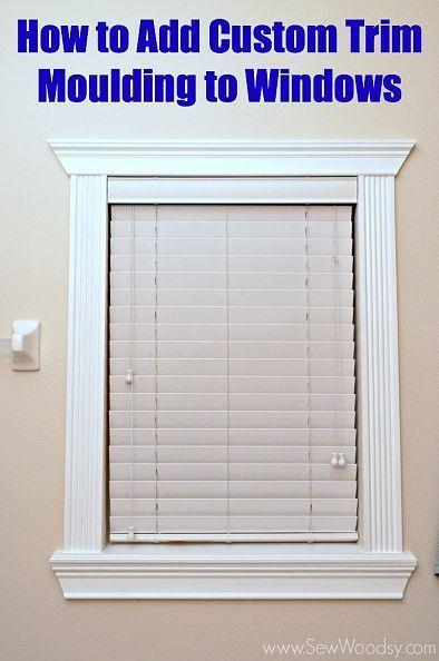 hometalk how to add custom trim moulding to windows - Window Framing Trim