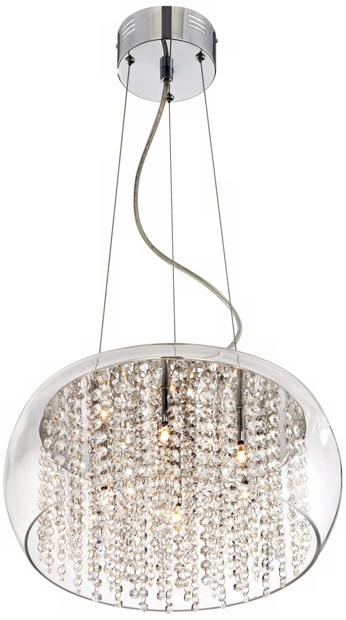 Possini Euro Crystal Rainfall 17 Wide Glass Drum Chandelier U0694 Lamps Plus Contemporary Crystal Chandelier Chandelier Drum Shade