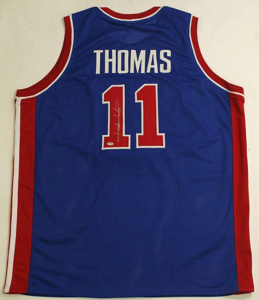 0d3958f0 Isiah Thomas Signed Pistons Jersey (Schwartz COA) | Daily Auction ...