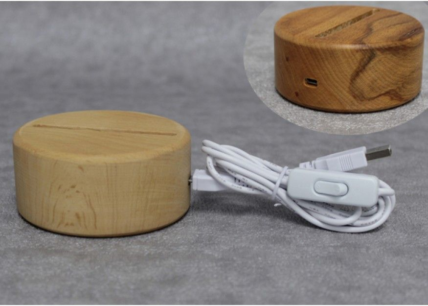 Old Fashioned Nature Solid Wood Led Lit Lamp Base For Acrylic Plate Acrylic Lamp Base Lamp Bases Led Light Projects