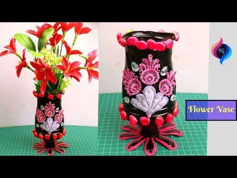 Plastic Bottle Crafts Handmade Flower Vase From Plastic Bottle