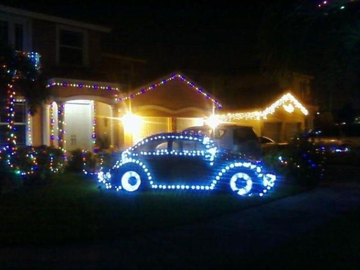 Vw Christmas Lights Vw Bug With Christmas Lights Christmas Cars Etc Vw Bug Vw Beetle Classic Volkswagon