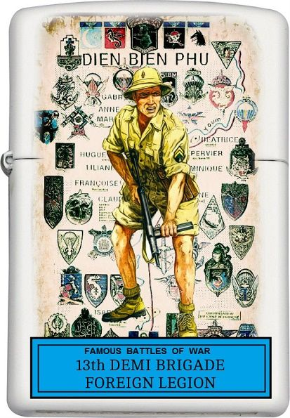 13th Demi-Brigade of the Foreign Legion Custom Zippo