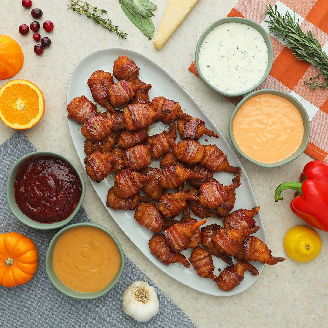 9 Mind Blowing Party Food Rings: Bacon-Wrapped Butterfly Shrimp & 4 Fall Dips In 2019