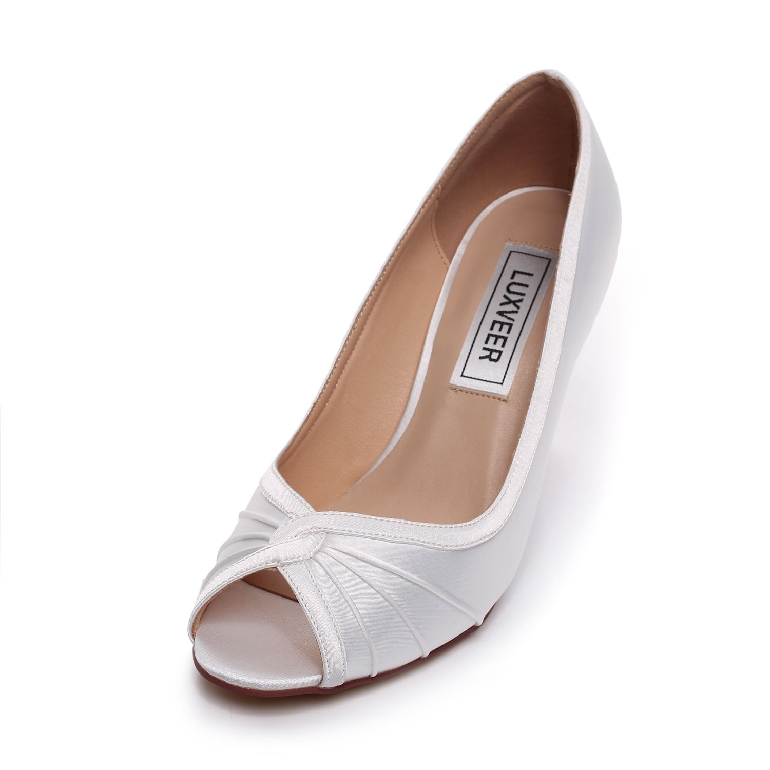 satin wedding shoes womens sandals strap sandals Comfortable silver ...