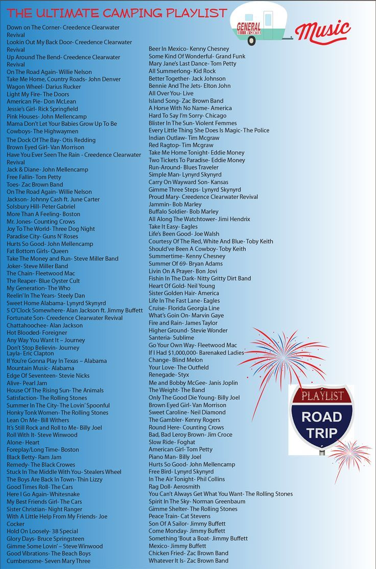 I do not camp, but there are some good songs on this list. :)