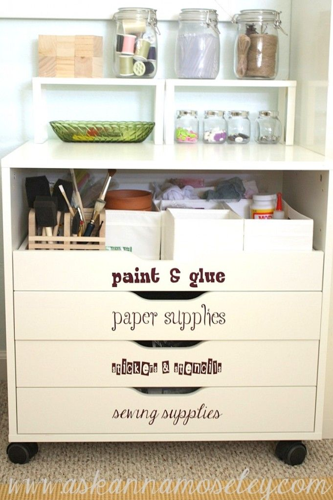 Ikea Alex With Drawer Removed To Hold Bigger Items. Great Use For Craft And  Office
