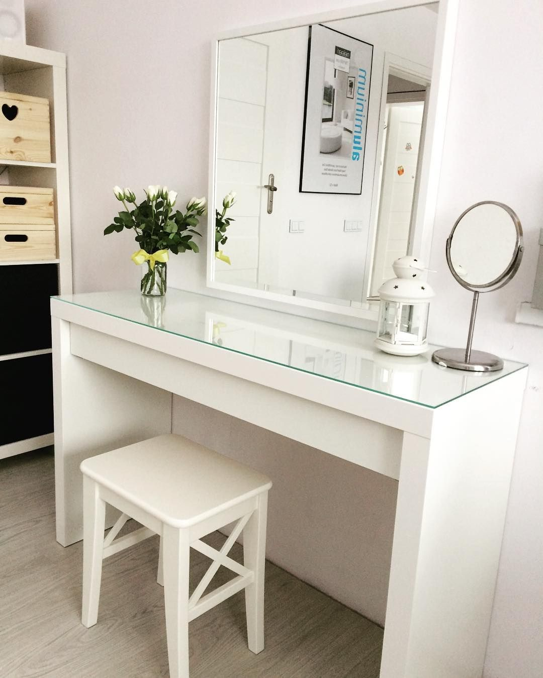 Minimal Ikea Malm Dressing Table Vanity Table Ideas Ikea