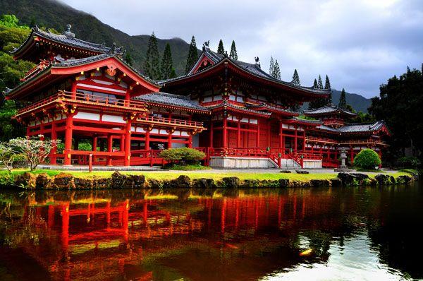 Le temple de Byodo-in situé dans la ville de Uji