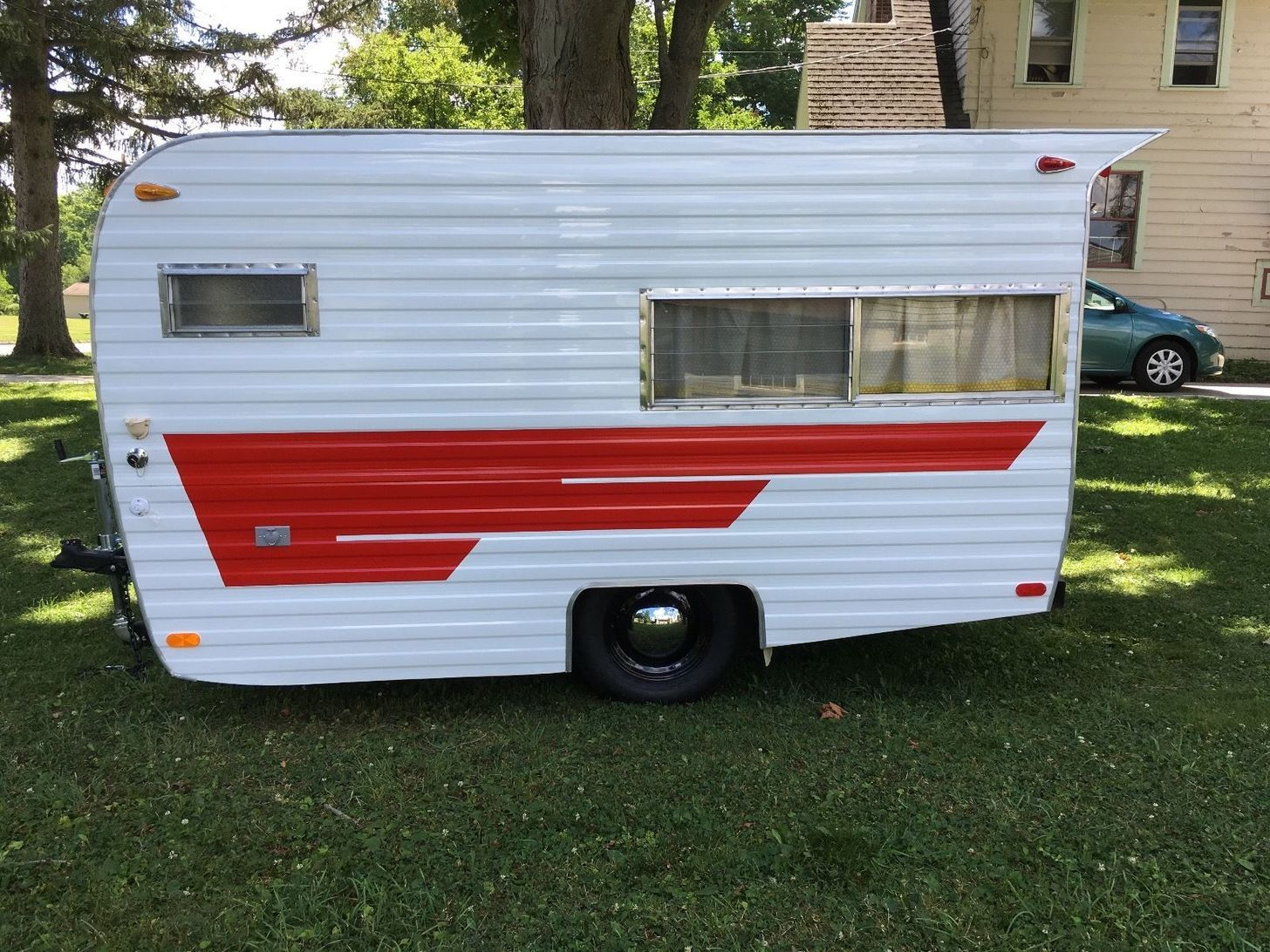 A Friend And I Professionally Renovated Canned Ham Camper Trailer 1969 Cardinal