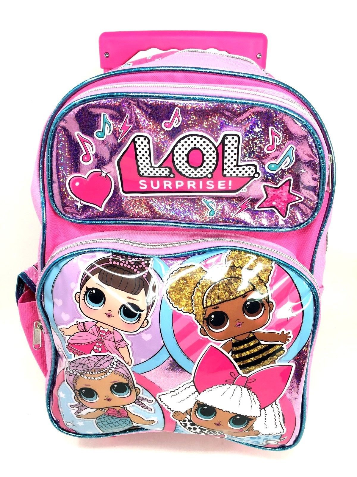 "LOL SURPRISE Large 16/"" inches Backpack /& Lunch Box New Licensed Product"