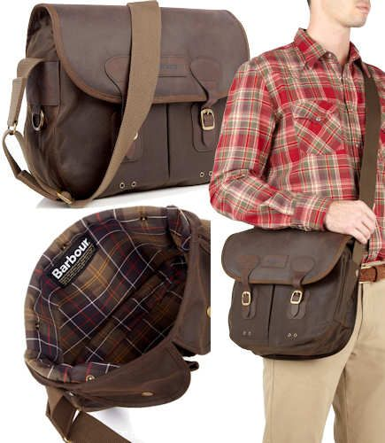 Barbour Waxed Cotton And Leather Tarras Bag