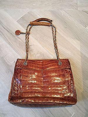 92730caec18d AUTHENTIC-CHANEL-Vintage-Brown-Crocodile-Tote-Bag | Chanel | Vintage ...