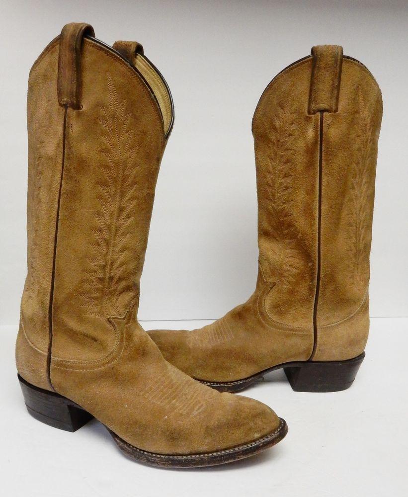e72c42dbd45 Tony Lama Cowhide Leather Boots Western Cowboy 6986 Black Label USA ...