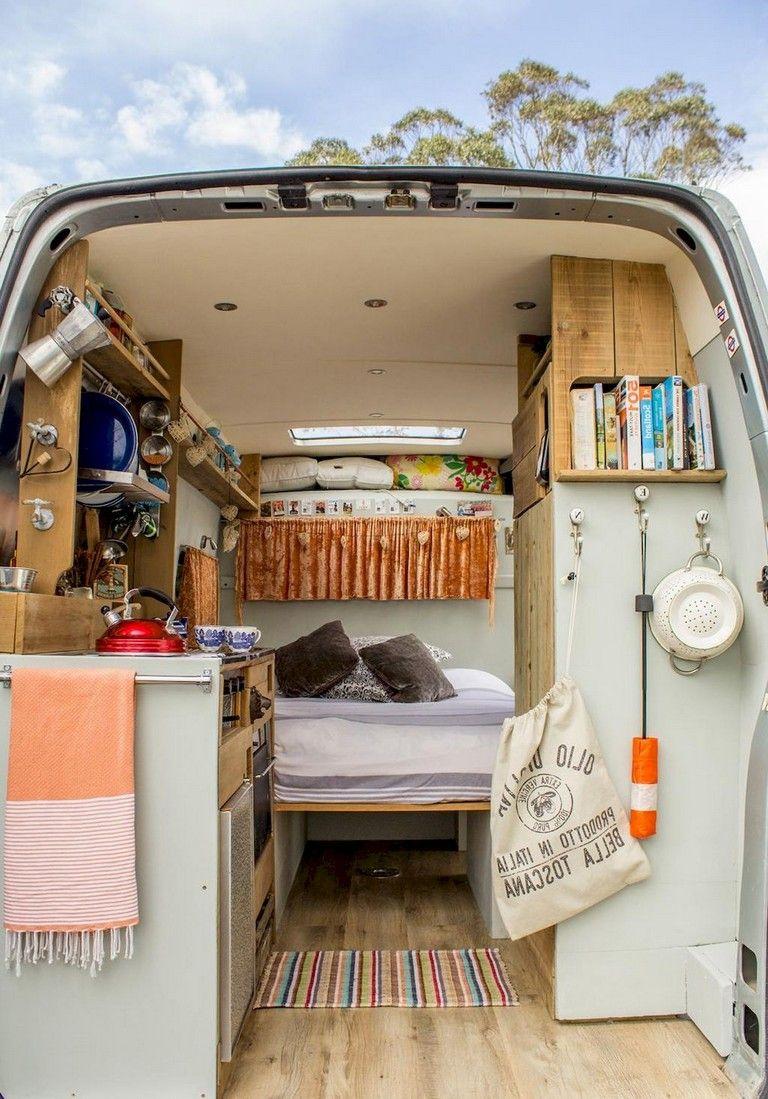 70+ Incredible Camper Van Interior Design and Organization ...
