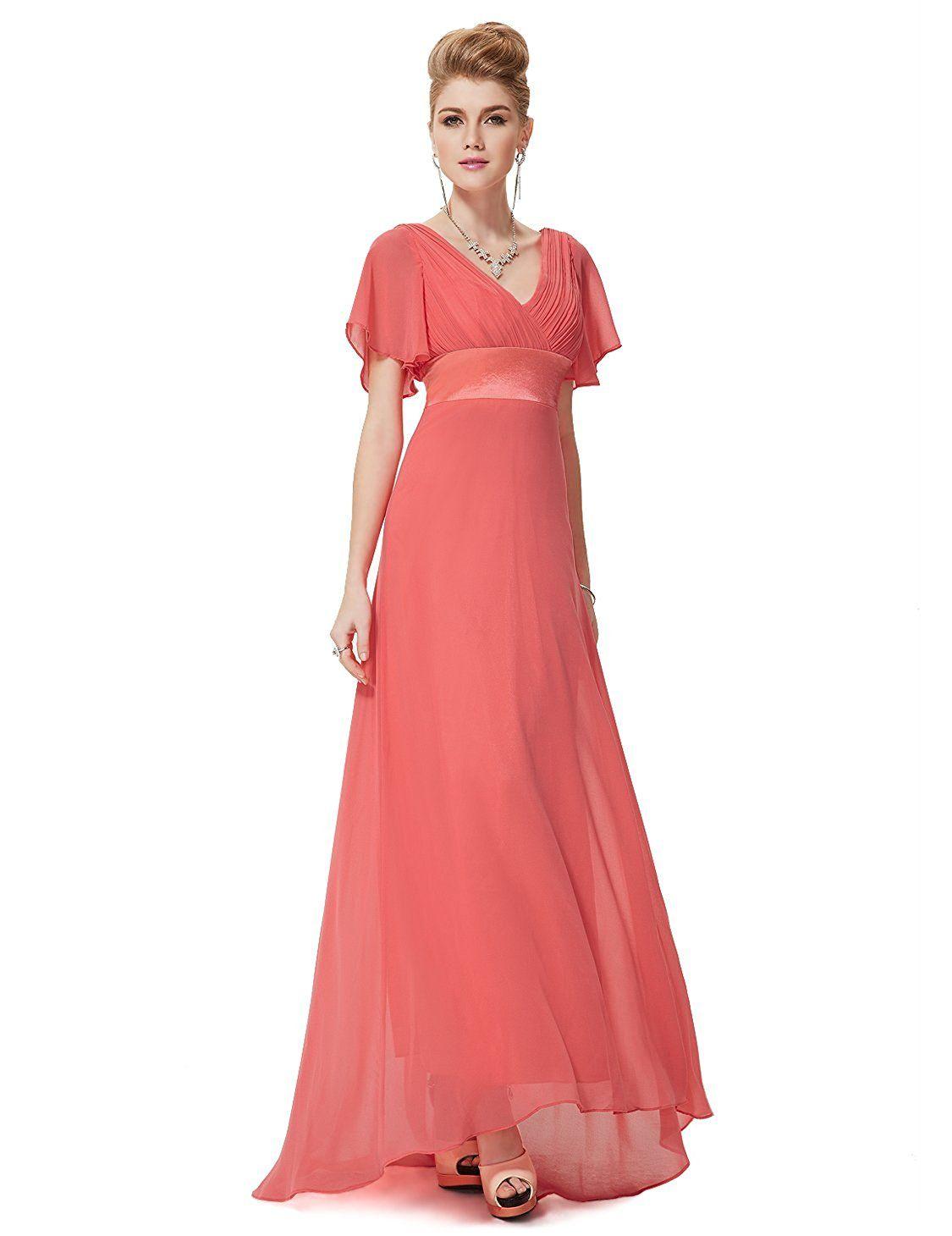 61fd5203242 Ever Pretty Women s Short Sleeve V-Neck Long Evening Dress 09890 ...