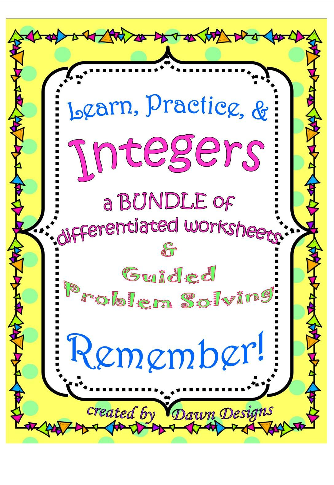 6th Grade Math Worksheet Bundle for Classwork, Homework