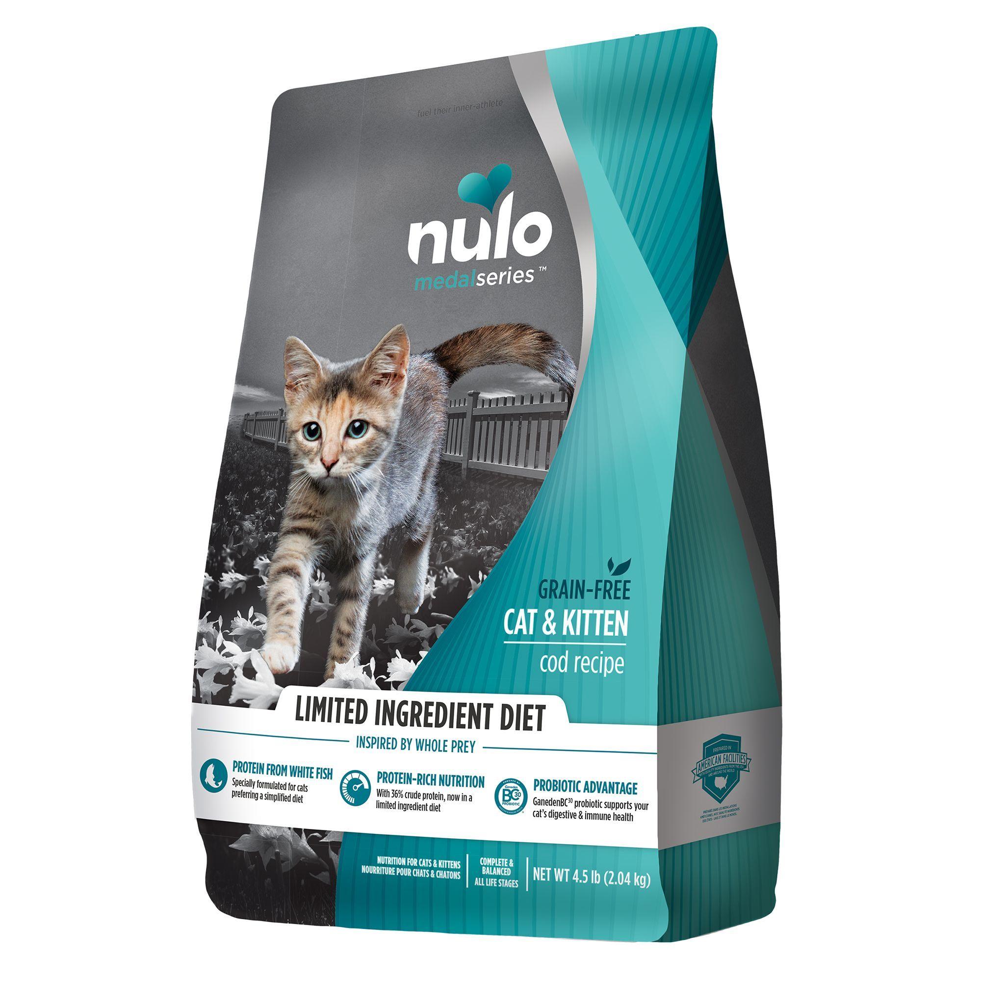 Nulo Medalseries Kitten Food Grain Free Limited Ingredient Cod In 2020 Kitten Food Grain Foods Grain Free