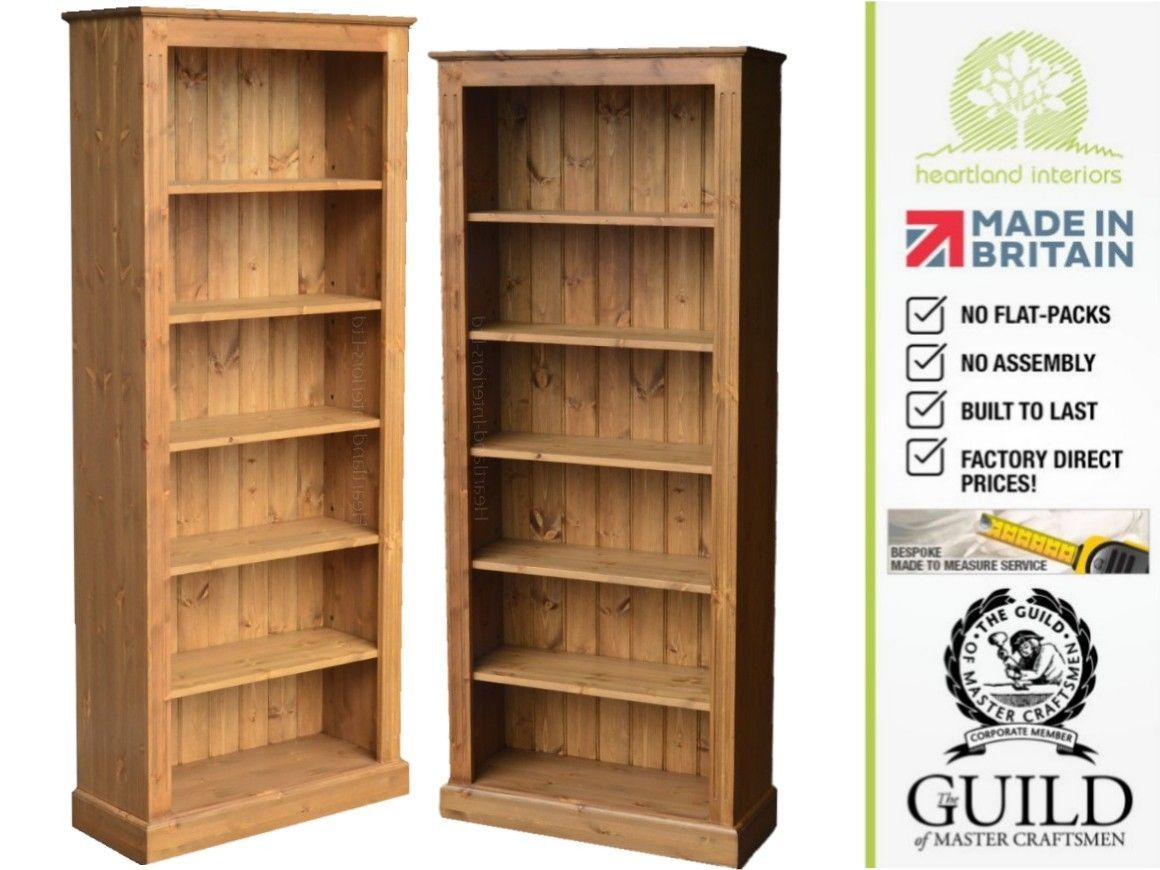 Pine Bookcase Traditional 6ft X 30 Ltnujdh Bookcase Pine Bookcase Adjustable Bookcases