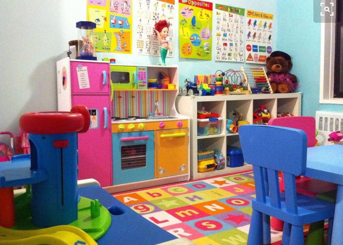 Like the kitchen paint   Daycare room   Daycare setup ...