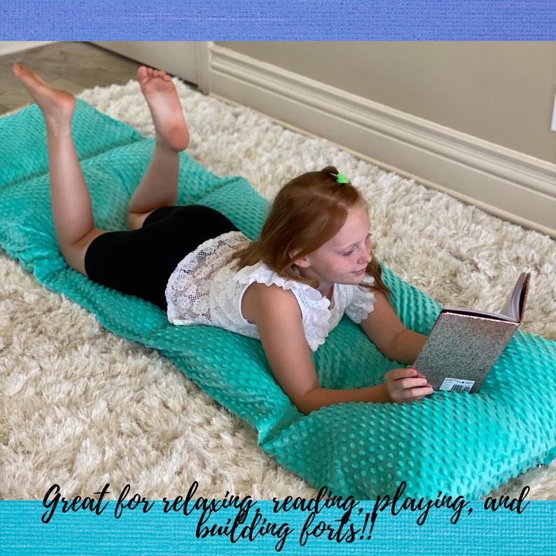 Personalized Turquoise Minky Dot Pillow Bed Case
