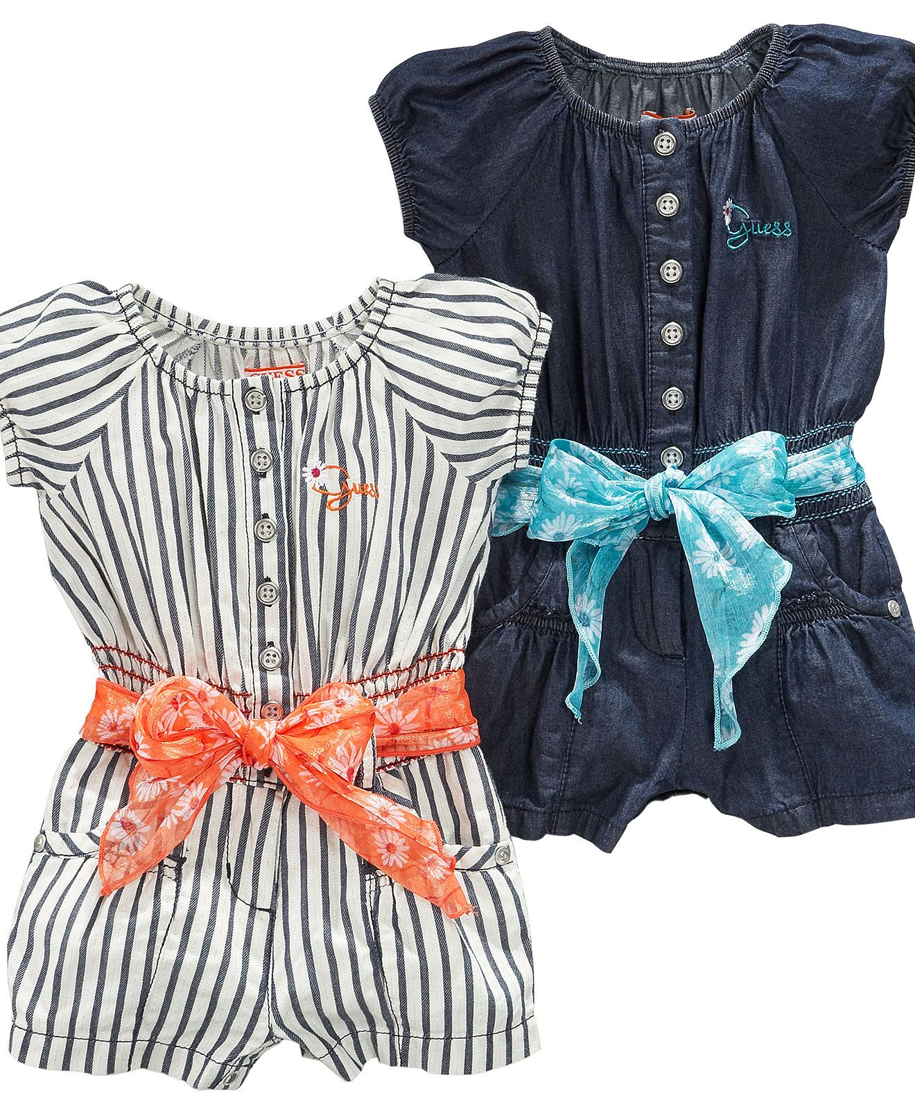 Cute Guess baby rompers Outfit ideas for my girls