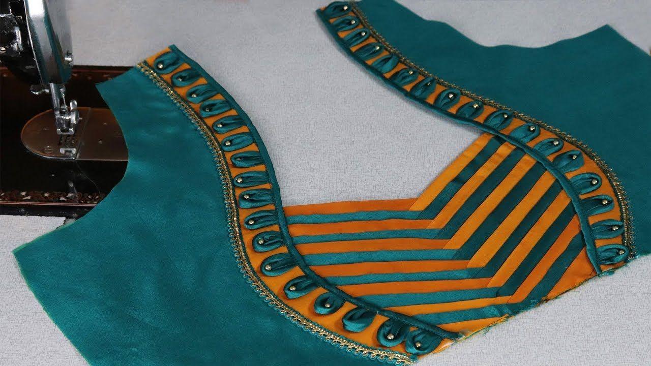 Saree blouse design cutting patch work saree blouse neck design cutting and stitching at home