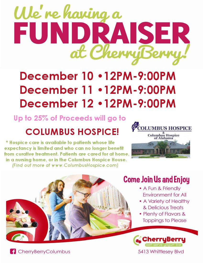 cherryberry fundraiser for columbus hospice hospice fundraiser