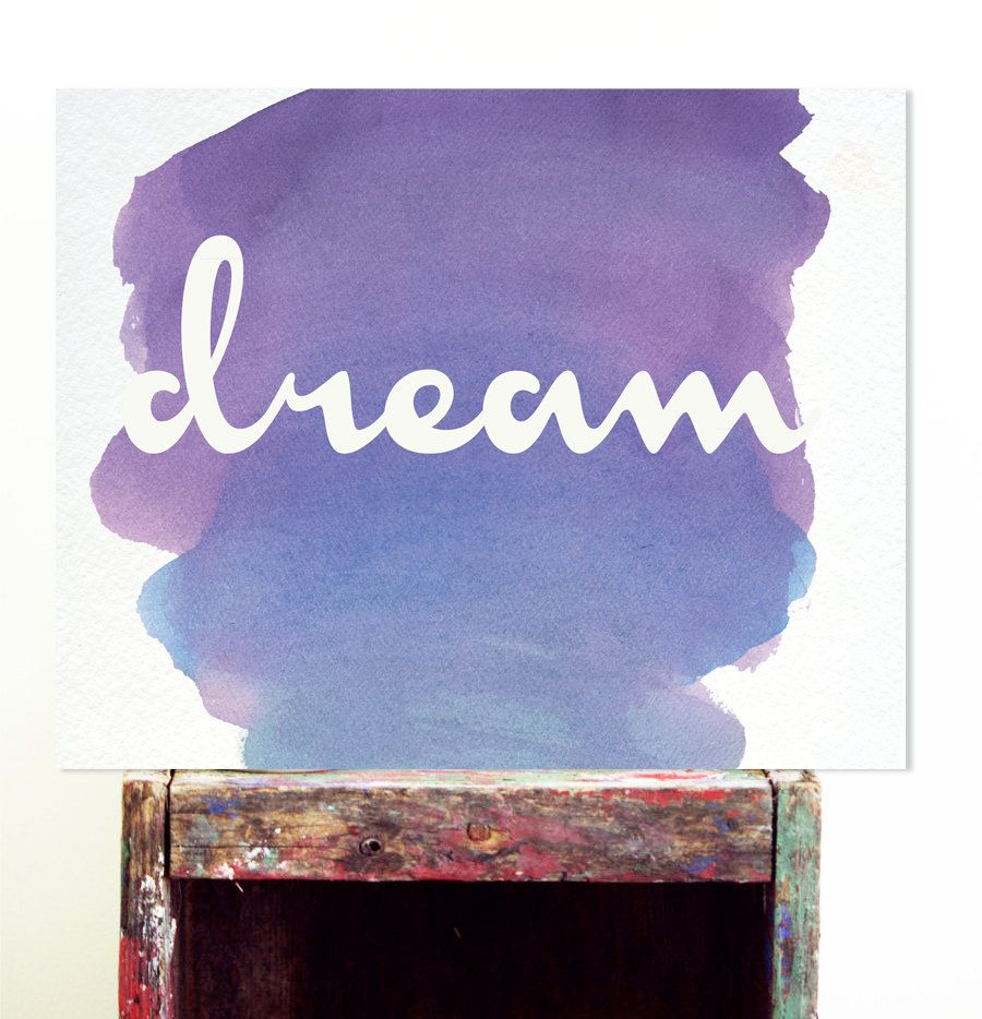 Motivational poster dream print motivational by blessedtype