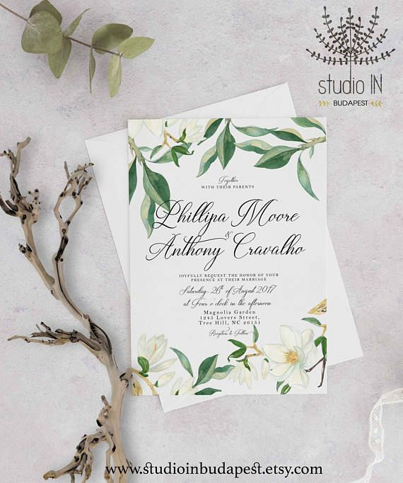 Hey I Found This Really Awesome Etsy Listing At Https Www Etsy Com Au Listing 526579611 Gr Magnolia Wedding Invitations Magnolia Wedding Wedding Invitations
