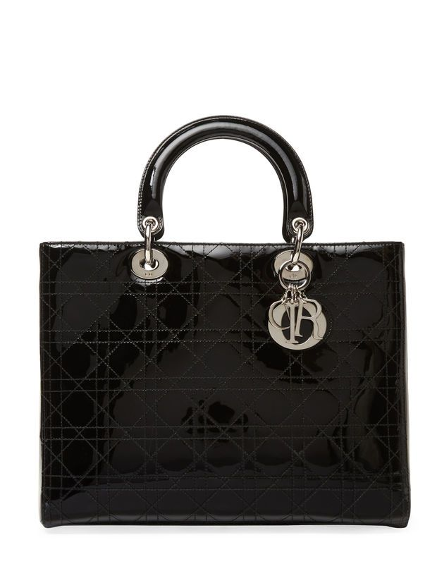 7d68113292 Christian Dior Black Patent Leather Large Lady Dior Bag | Bags ...