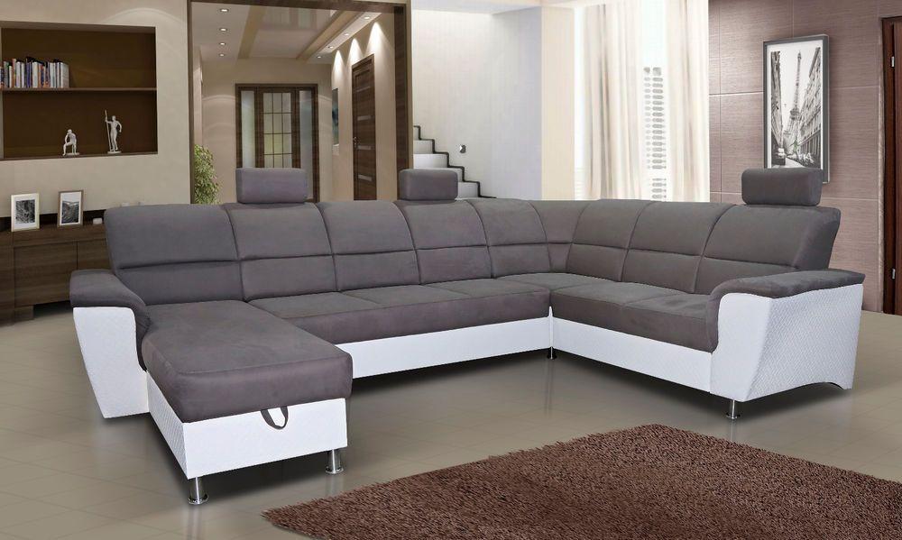 Eckcouch Mit Schlaffunktion Ecksofa Couch Wohnlandschaft U Form