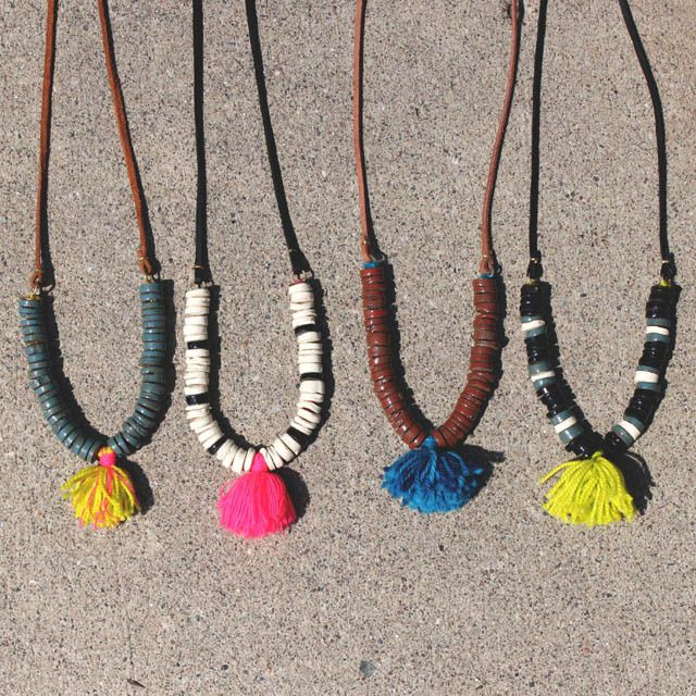 terra and tassel necklace / erin smith for ship & shape