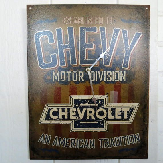 Chevy Clock, Unique Wall Clock, Chevrolet Clock Chevy Wall Decor ...