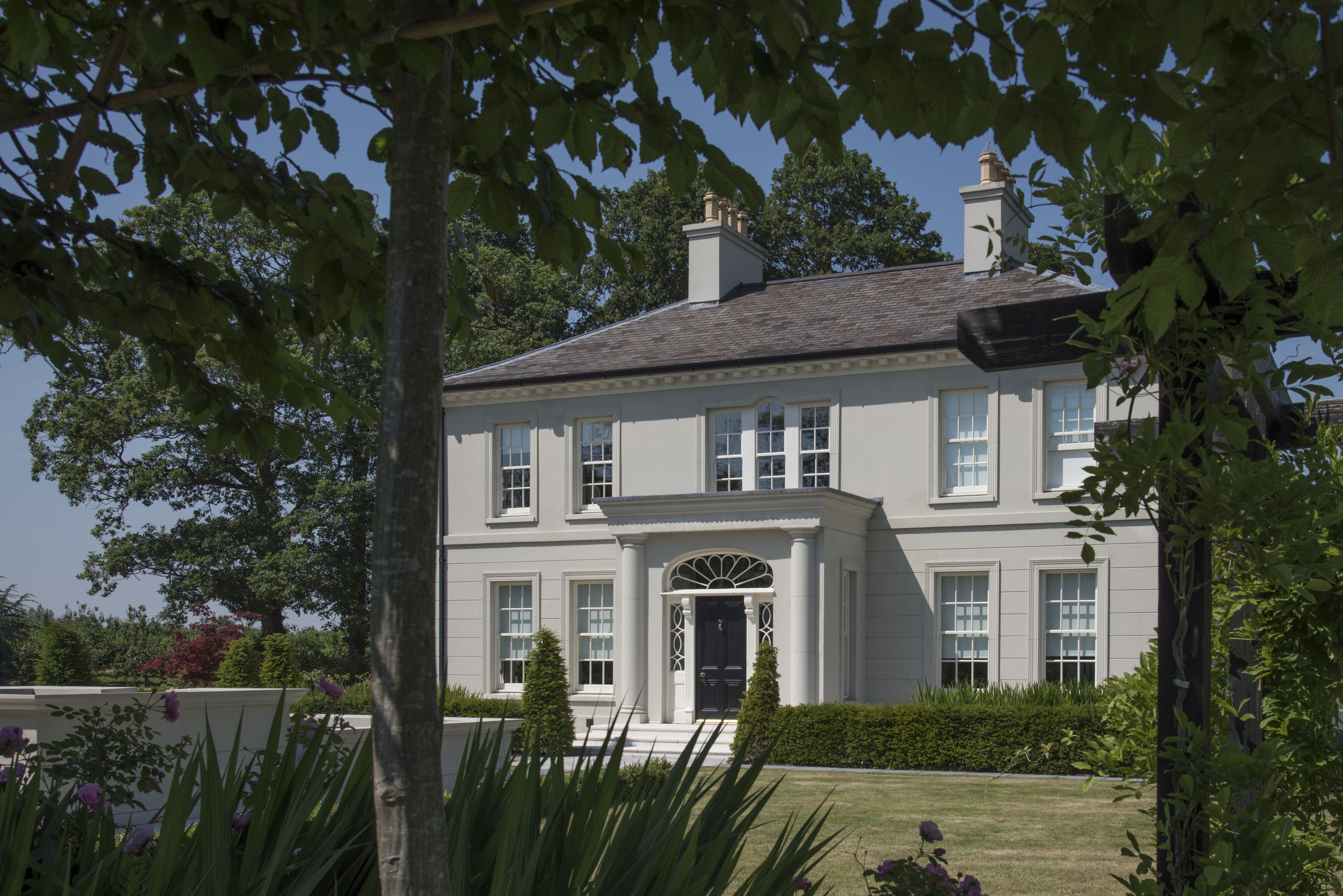 Georgian Inspired Country House Looking Through Trees With Images
