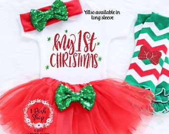 baby first christmas outfit baby first christmas bodysuit baby christmas tutu my first