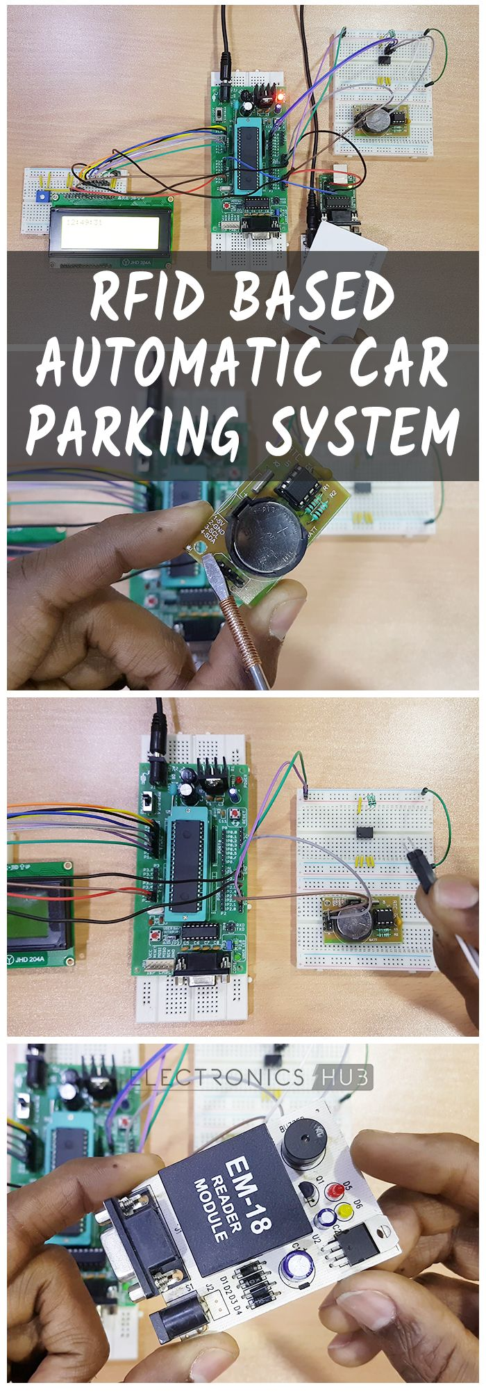 Rfid Based Car Parking System Fai Da Te Pinterest Electronics Access Control Using 8051 Electronic Circuits The Principle Of Operation Project Lies In Functioning Rtc And Eeprom