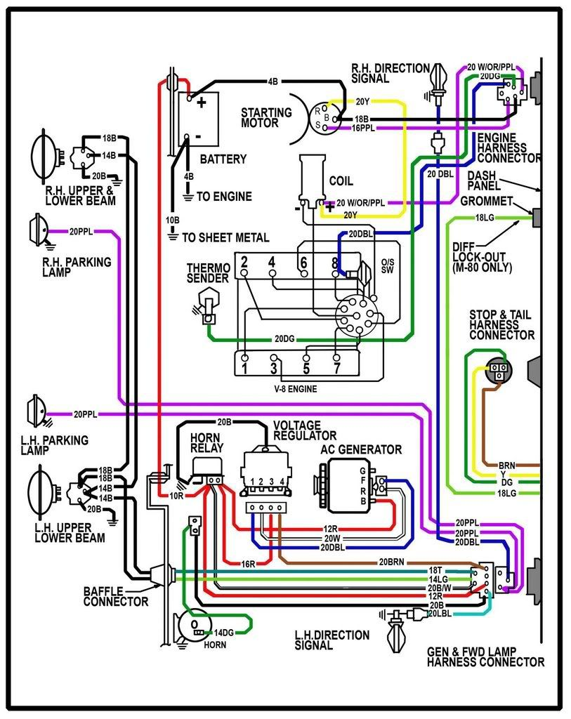 64 chevy c10 wiring diagram chevy truck wiring diagram 64 chevy rh pinterest com Aftermarket Engine Wiring Harness 1994 GMC Suburban Diesel 6 5 Starter Wire Color Diagram