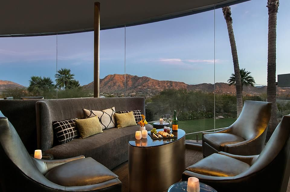 Happy hour4-6pm daily. Sanctuary on Camelback Mountain- Paradise Valley, AZ ||  #Scottsdale #Phoenix #Arizona #AZ #Luxury #Design #Lifestyle #Inspiration #Ideas #Style #SocialHour #HappyHour #Food #Drinks #Foodie #Cocktails #Wine #Appetizers #Things to do #inPhoenix #inScottsdale #Entertainment #Activities #Lounge #View