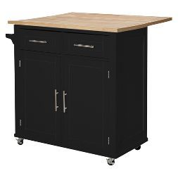 Large Kitchen Island With Wood Top And Storage Threshold Large Kitchen Island Kitchen