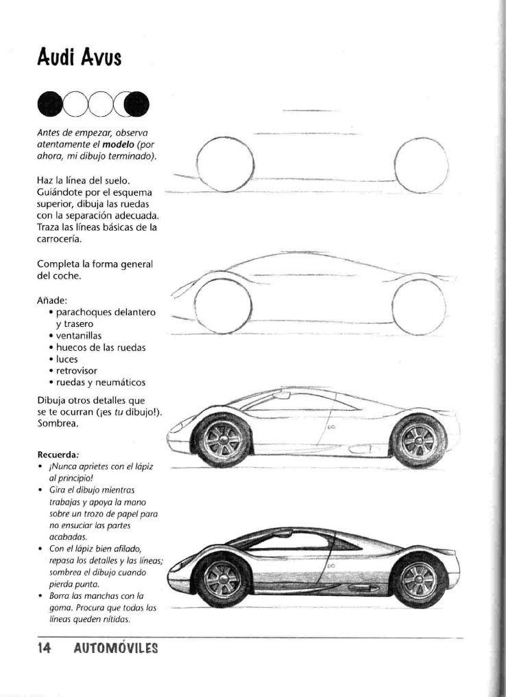 Como Dibujar Autos Paso A Paso Car Drawings Concept Car Design Drawing Machine