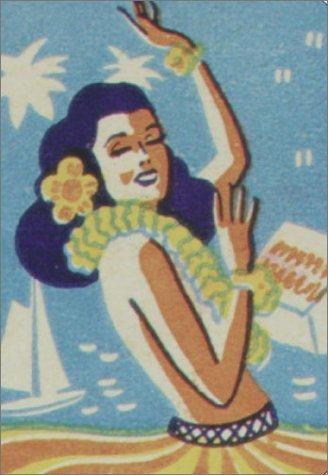 Vintage Hula Girl Matchbook Cover Matchbook Art Matchbox Art Hawaiian Art