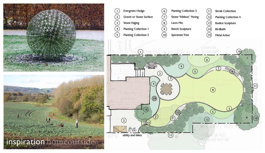 curvilinear landscape design Landscape design services