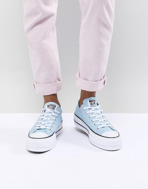 237c27f58bea Converse Chuck Taylor All Star Platform Sneakers In Blue