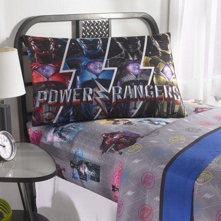 Power Rangers Band Together Bedding Sheet Set Walmart Com College Bedding Sets Bed Bed Sheets