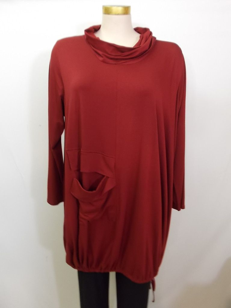Chalet - Bamboo Carmine Cowl Neck 1 Pocket Binnie Dress