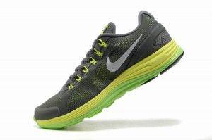 meilleur site web 6c24f 31e9e Chaussures Nike Lunarglide 4 pour courir Homme Gris / Jaune ...