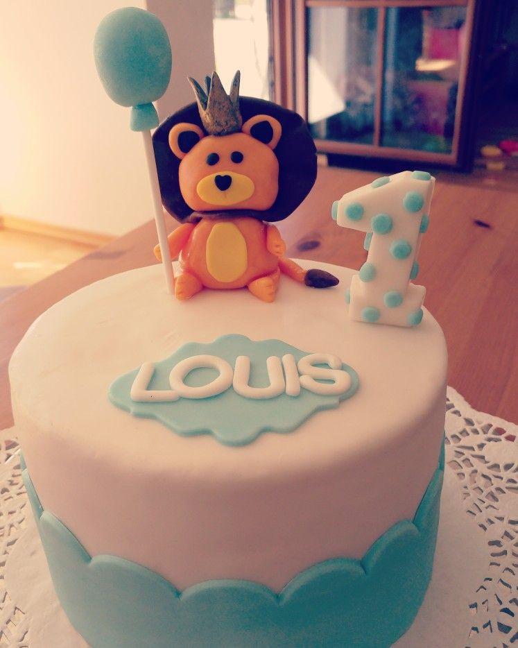 Fondatcake Baby 1 Geburtstag Junge Geburtstag Torte Junge