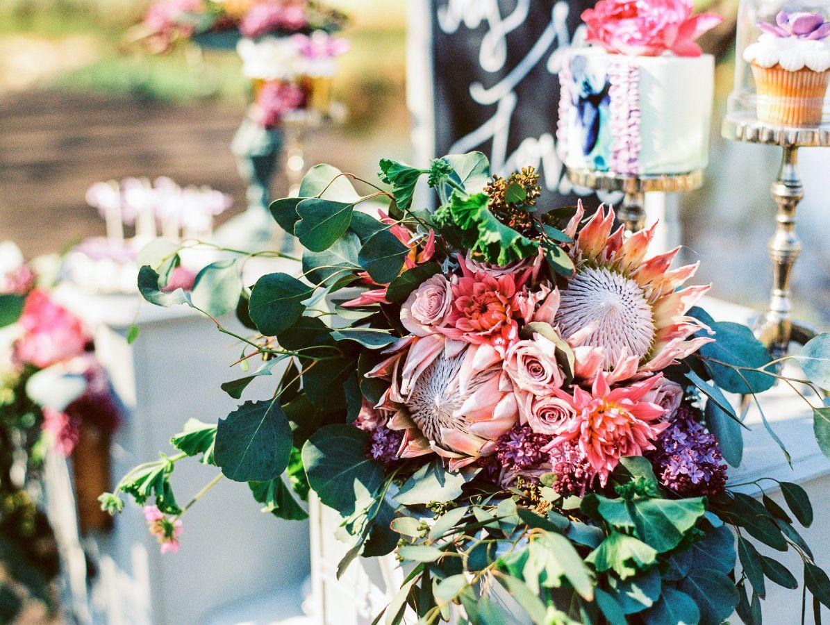 Protea Wedding Inspiration - Style Me Pretty