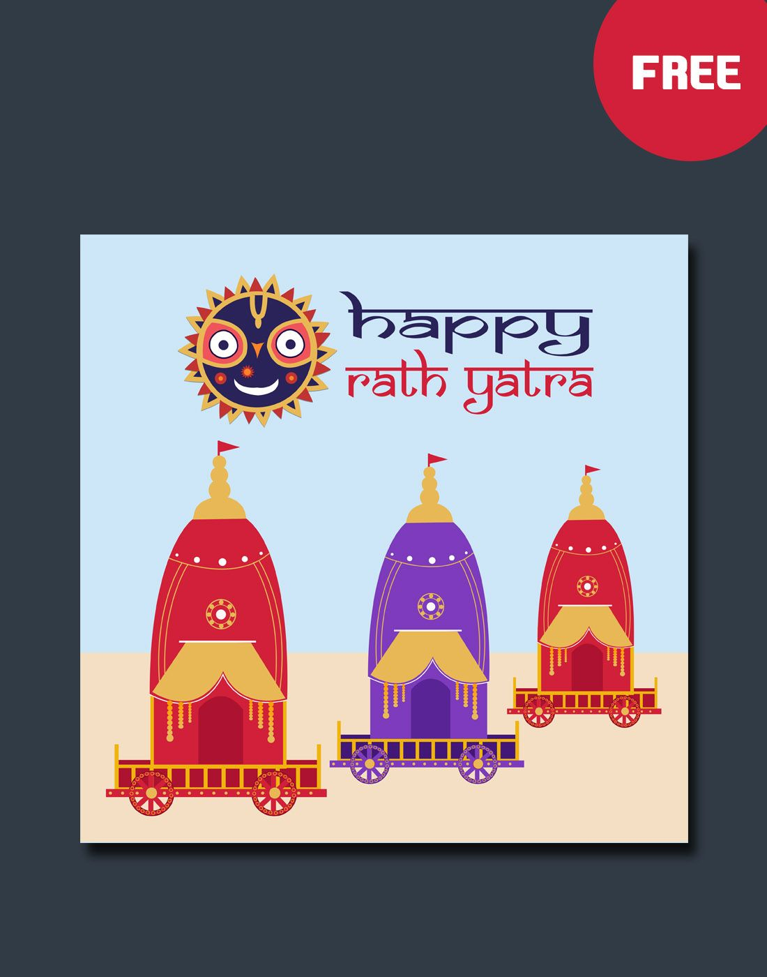 Ratha Yatra Vector Graphic Templates Vector Graphic Festival